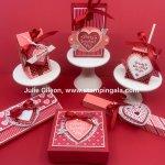 Create 6 adorable Valentine Treats with the Heartfelt Bundle, #Stampin