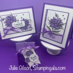 Greeting cards and treat holder created with the Flowering Blooms Stamp Set and Bundle. #Stampin