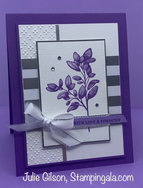 Forever Fern sympathy card for Facebook Live.  #Stampin' Up, #Stampin' Gala, #Handmade cards, #Forever Fern Stamp Set