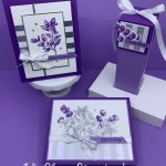 Forever Fern greeting cards and gift box created with the Forever Fern bundle. #Stampin