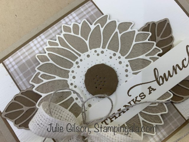 Thank you card created with Celebrate Sunflowers Bundle.