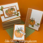 Greeting cards and hand sanitizer holder created with the Harvest Hellos Stamp Set & Apple Builder Punch. #Stampin