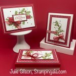 Christmas cards and gift box created with Stampin
