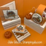 Greeting card & treat holders created with Stampin