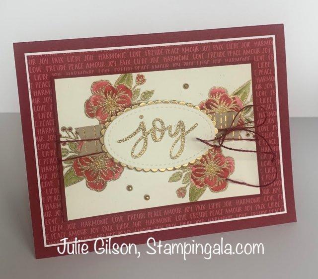 Paper Pumpkin - October 2020, Joy to World, Alternates.  #Stampin' Up, #Stampin' Gala, #Julie Gilson, #Treat Holder, #Christmas Cards