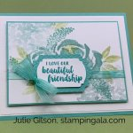 Simple greeting card created with the Beautiful Friendship stamp set for Simple Sunday. #Stampin