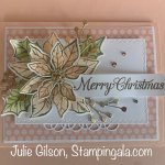 Christmas card created with Stampin