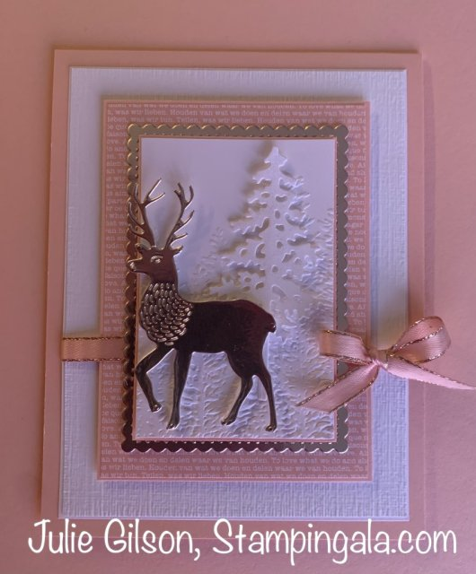 Christmas Card created with Stampin' Up's Wishes & Wonder Stamp Set.  #Stampin' Up, #Stampin' Gala, #Christmas Crafts, #Handmade Cards