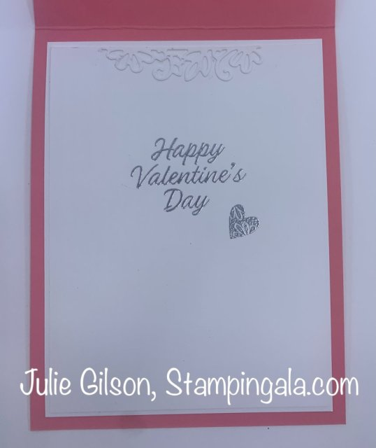 Valentine's Day Card created with Stampin' Up's Meant to Be stamp set.  #Stampin' Up, #Stampin' Gala, #Valentine Card, #DIY, #Handmade Cards