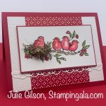 Handmade card created with Stampin