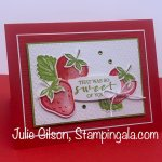 Thank you card featuring Stampin