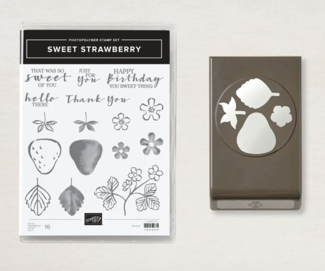 Thank you card featuring Stampin' Up's Sweet Strawberry Bundle.  #Stampin' Up, #Stampin' Gala, #Thank You, #Handmade Card
