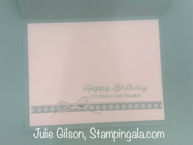 Birthday card created with the In Bloom Bundle by Stampin' Up. #Simple Sunday, #Stampin' Gala, #Handmade cards, #Die Cut Flowers
