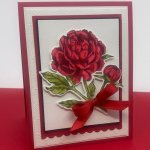 Greeting card created with the Prized Peony bundle. #Stampin