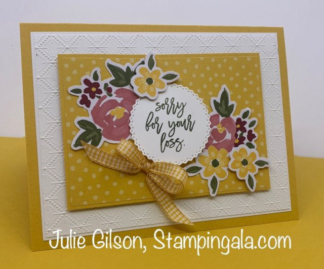 Paper Pumpkin - February 2021 Alternate Projects.  #Stampin' Up, #Stampin' Gala, #Handmade Cards, #Sympathy Cards