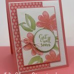 Get Well card created with the Gorgeous Posies stamp set. #Stampin
