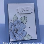 Greeting card created with the Good Morning Magnolia stamp set. #Stampin