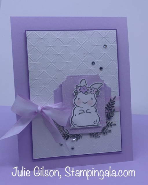 Easter card created with Stampin' Up's, Springtime Joy stamp set. #Stampin' Up, #Stampin' Gala, #Julie Gilson, #Easter crafts, #Handmade cards, #Makeover Monday