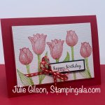 Birthday Card created with the Timeless Tulips stamp set. #Stampin