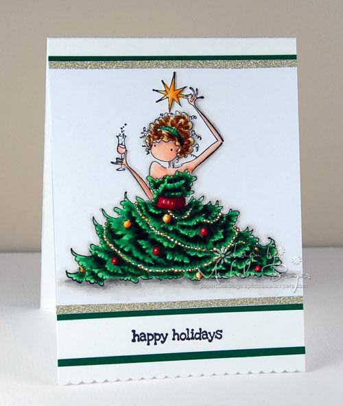 Spotlight On Festive Uptown Girls Rubber Stamps At