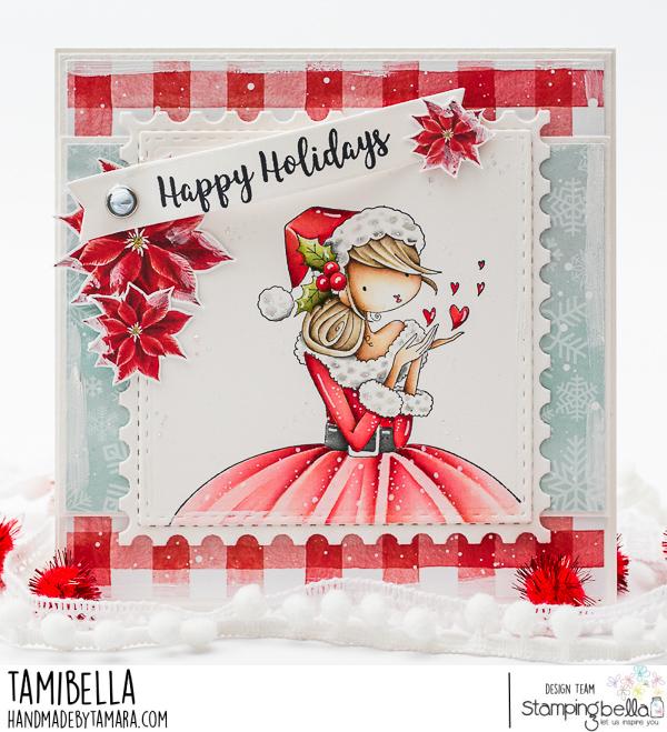 www.stampingbella.com: rubber stamp used KATRINA'S CHRISTMAS KISSES