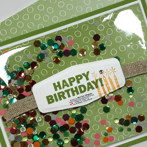 Shaker card birthday