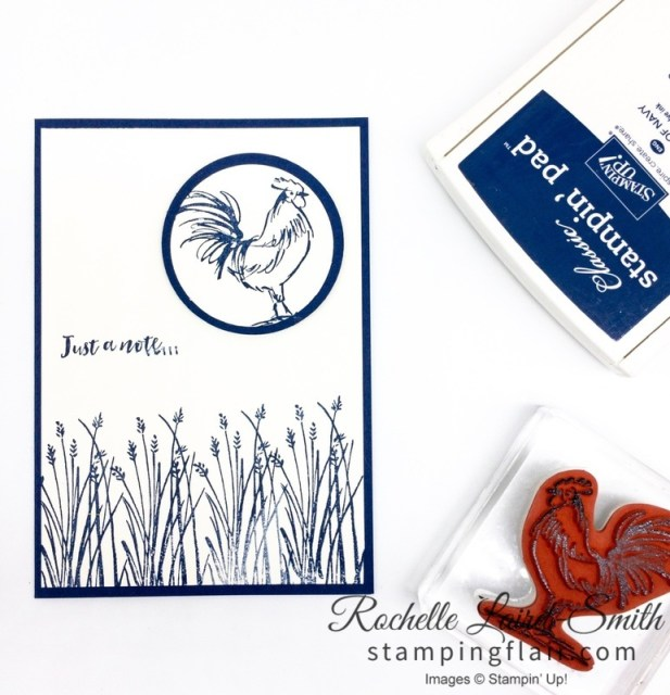 Beginner card with Home to Roost Saleabration stamp set