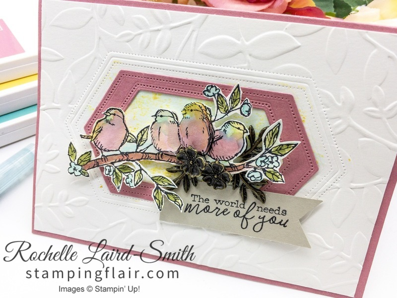 Die Cut frame from Nested Labels Dies, Handmade bird card
