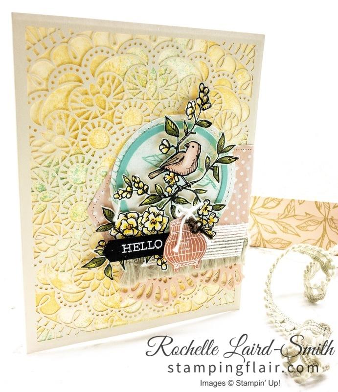 ESAD Blog Hop, Bird Ballad Laser Cut cards,, Handmade card