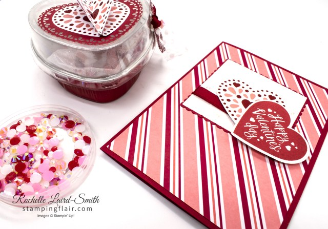 Valentine's Day card and gift box, Joy of Sets January 2020 Blog Hop