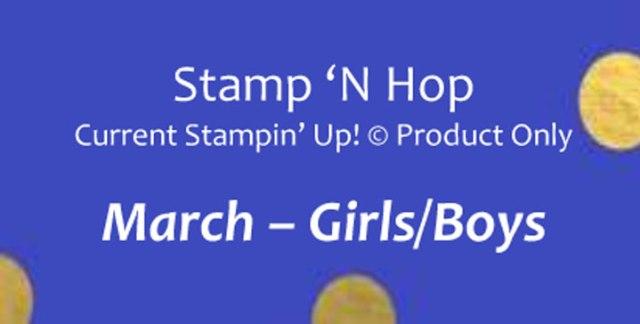 Stamp N' Hop - March 2020, Girls Boys