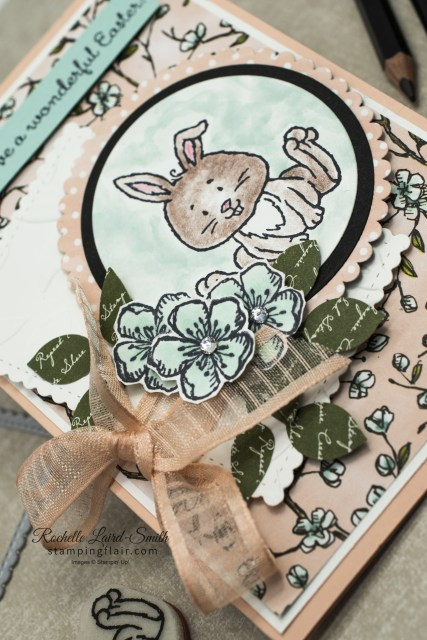 Handmade Easter Card using Stampin' Up! Welcome Easter stamp set