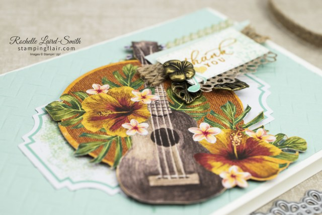Thank you card using Stampin' Up! Tropical Oasis Memories & More Cards