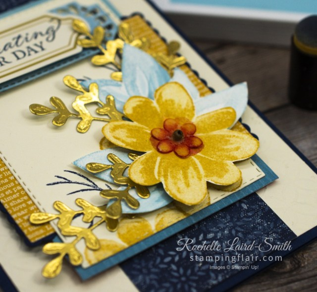 Floral arrangement with Gorgeous Posies Card Kit and Boho Indigo Product Medley, Greeting Card