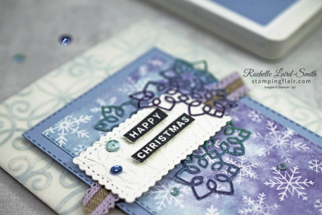 Christmas Layers Dies, Rainbow Glimmer Paper, Snowflake Splendor DSP, Peace & Joy stamp set, Christmas Card, Stampin' Up!