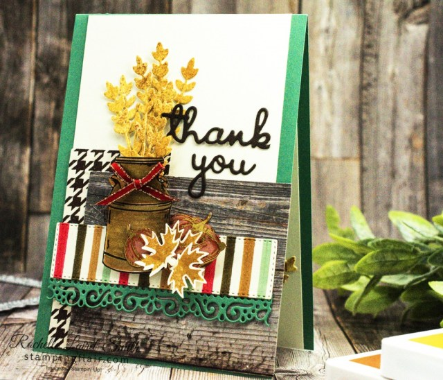 Joy of Sets Blog Hop, October 2020, Country Home Stamp set, Thank you card, Stampin' Up!, Sunflower Dies