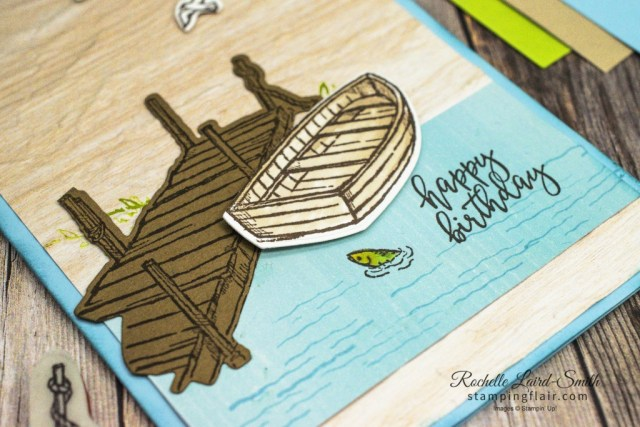 By the Dock stamp set, Stampin' Up!, SU, Masculine card, Birthday card, Men's card, Kayak, Canoe, Fun ways with DSP