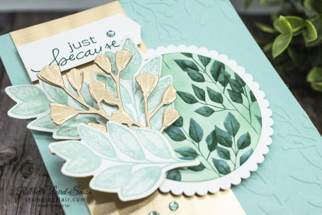 Stampers Showcase Blog Hop, October 2020, Embossing Technique, Forever Fern bundle, Brushed Metallic cardstock, Fun Ways with DSP, Stampin' Up! Foreve Greenery DSP