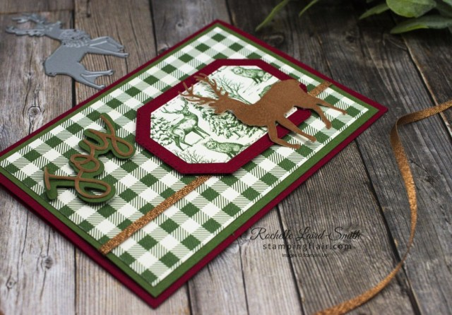 Fun Ways with Designer Series Paper, Fun Ways with DSP, North Pole Wonder Dies, Deer, Christmas Card, Stampin' Up!, SU, Toile Tidings DSP, Layer your DSP, Joy Dies