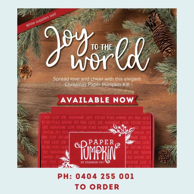 Joy to the World Paper Pumpking Box