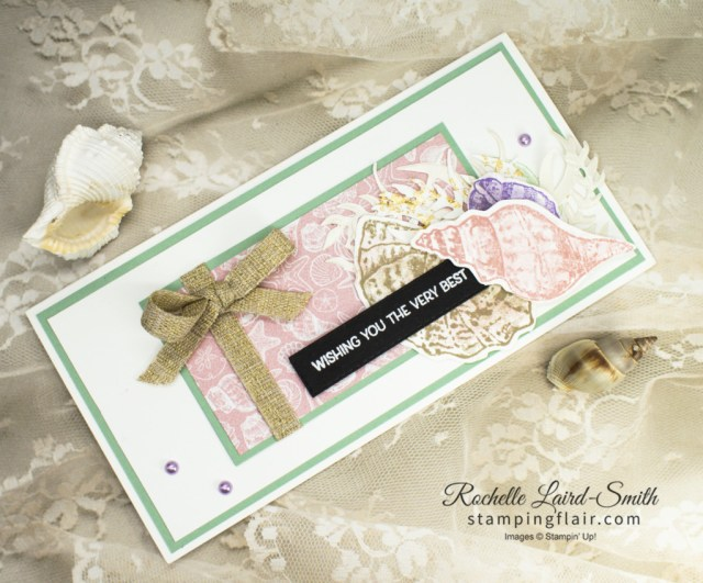 Stamping Inkspirations Blog Hop, January 2021, Sand & Sea suite, Seashells embossing folder, Sand & Sea DSP, Stampin' Up!, SU, Shells