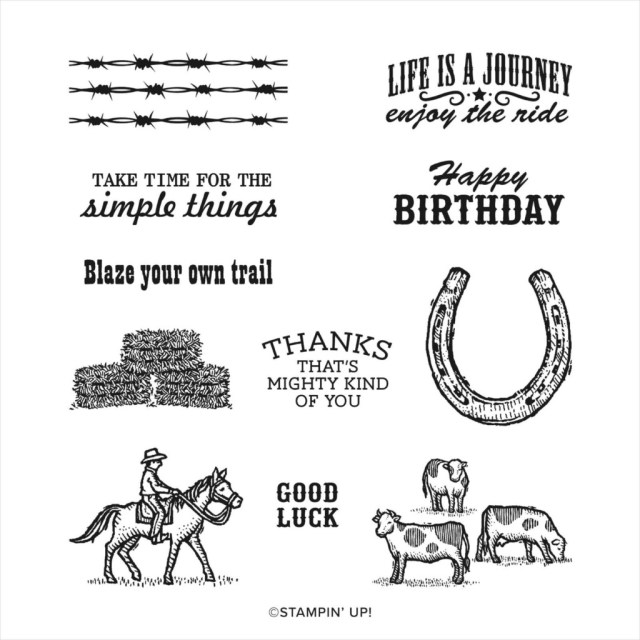 Ride the Range stamp set, Stampin' Up!, SU