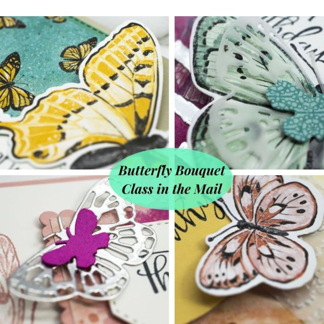 Butterfly Bouquet Class in the Mail, Online Class, Cardmaking Kit, Stampin' Up!, SU