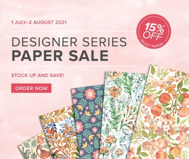 Designer Series Paper Sale 2021, Stampin, Up!, SU
