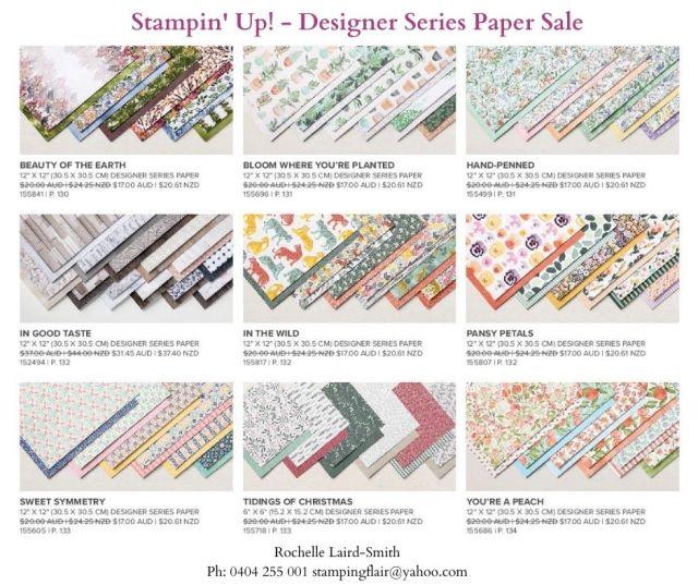 Designer Series Paper Sale 2021, DSP Sale, Stampin' Up!, SU