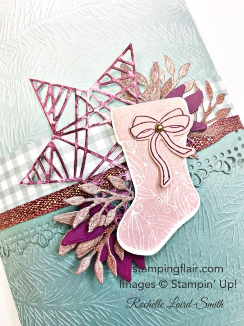 Stampin' for Christmas Blog Hop, July 2021, Tidings & Trimmings Bundle, Gift Packaging, Christmas, Ombre Gift Bag
