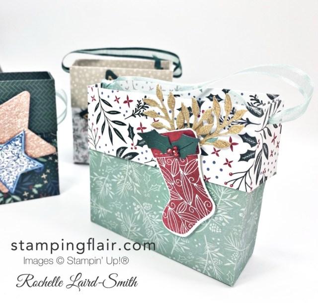 "6""x6"" gift bag, Designer Series Paper, Quick Make, Tidings of Christmas, Tidings & Trimmings Bundle, Gift Wrapping, Gift Bag, Stampin' Up!, SU"