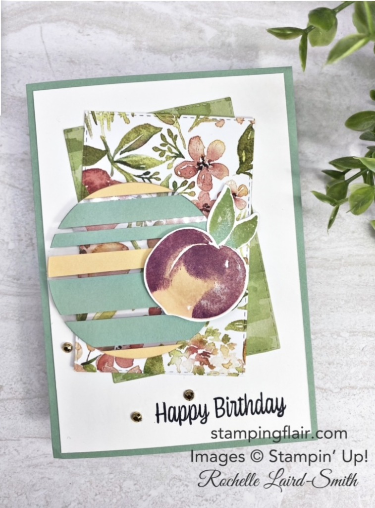 You're a Peach DSP, Floating Technique, Stampin' Up!, SU