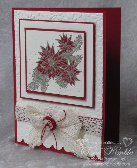 Vintage Christmas Card With Bells And Boughs Stamp Set