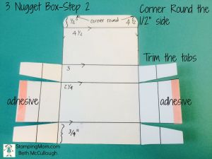 StampinUp 3 Nugget Box directions-Step 2 by Beth McCullough. Please see more card and gift ideas at www.StampingMom.com #StampingMom